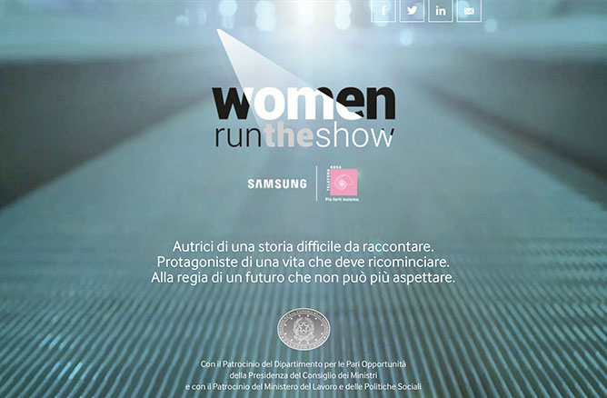 Progetto «Women Run The Show»